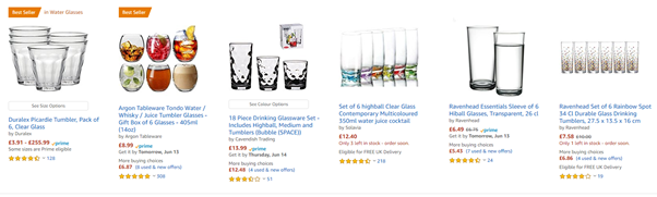 Amazon sponsored search results
