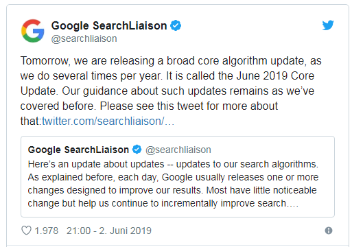 Google Search Liaison Update